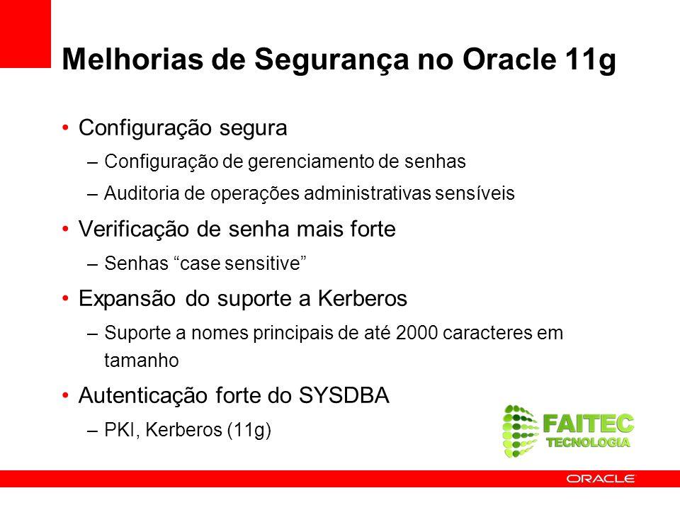 Melhorias de Segurança no Oracle 11g