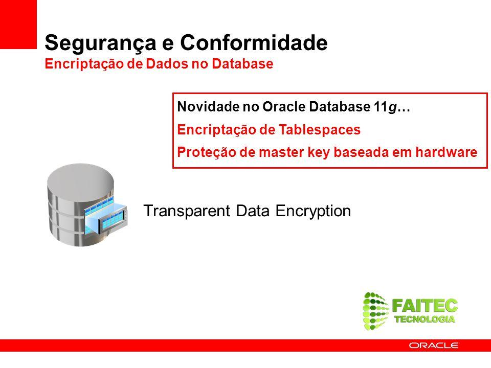 Segurança e Conformidade Encriptação de Dados no Database