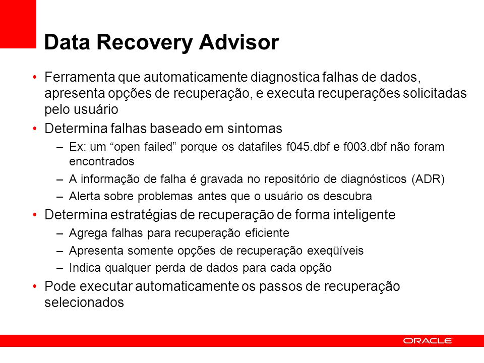 Data Recovery Advisor