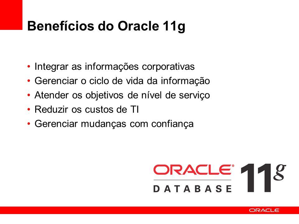 Benefícios do Oracle 11g Integrar as informações corporativas