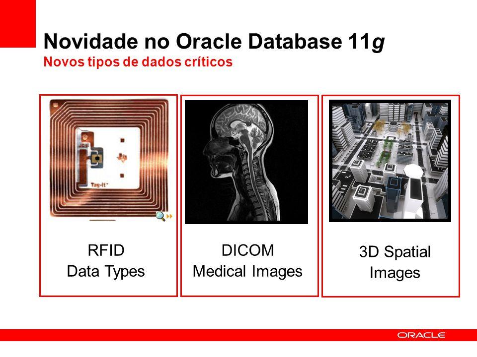 Novidade no Oracle Database 11g Novos tipos de dados críticos