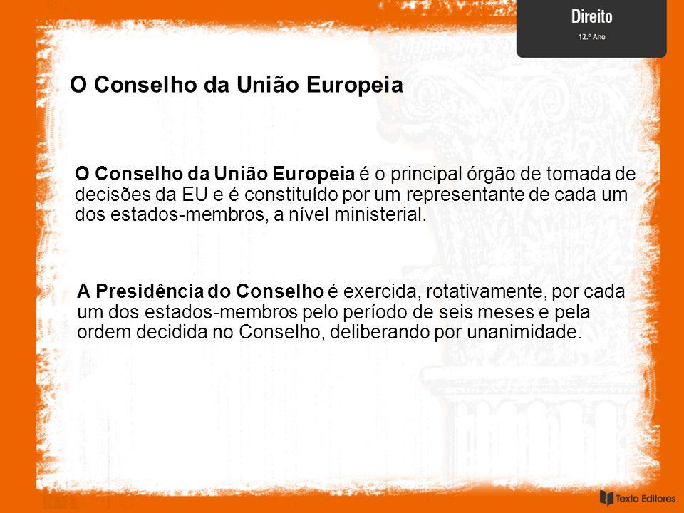 O Conselho da União Europeia