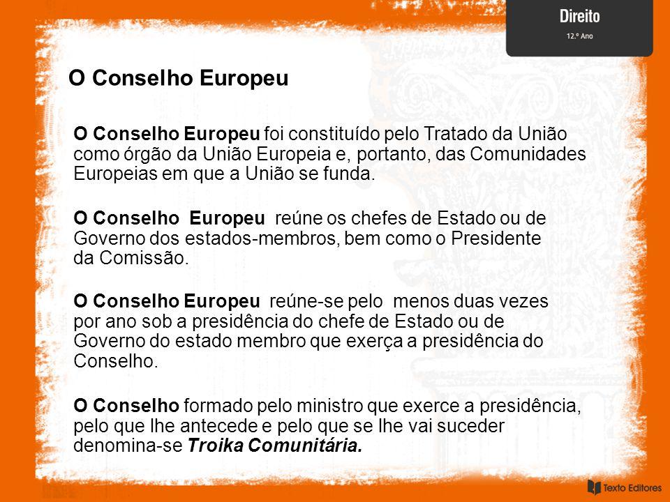O Conselho Europeu