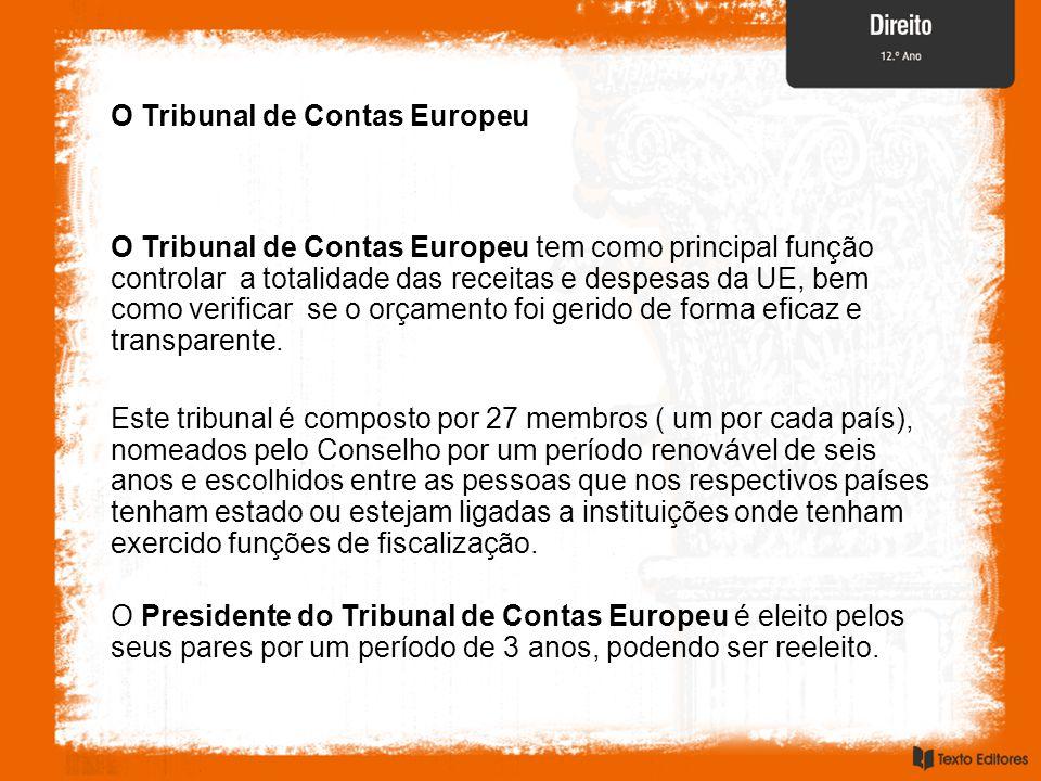 O Tribunal de Contas Europeu