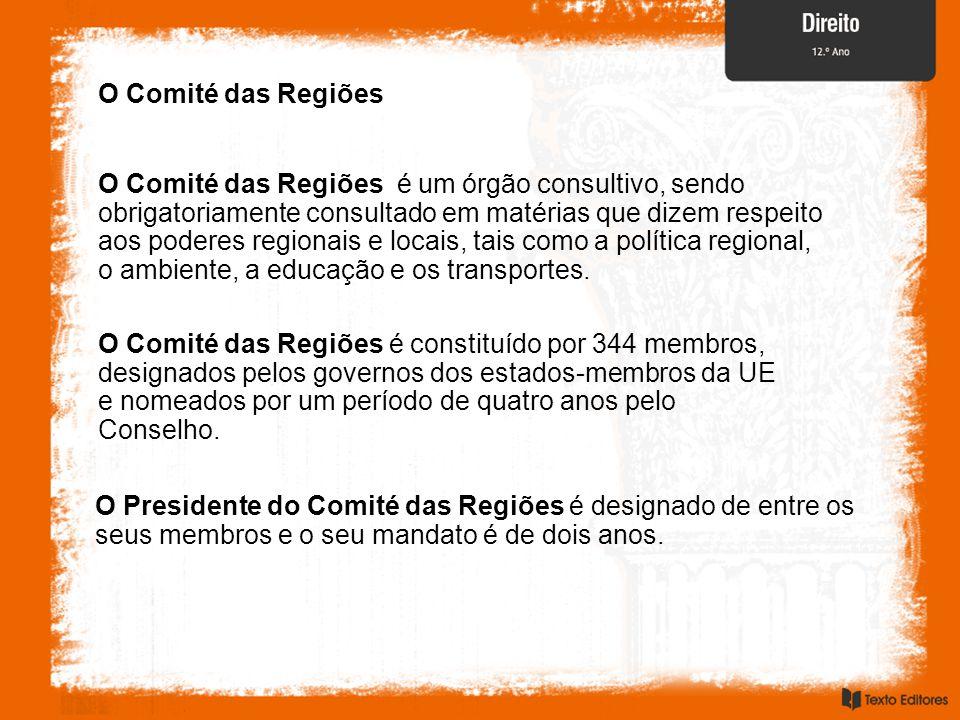 O Comité das Regiões