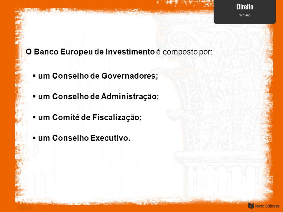 O Banco Europeu de Investimento é composto por: