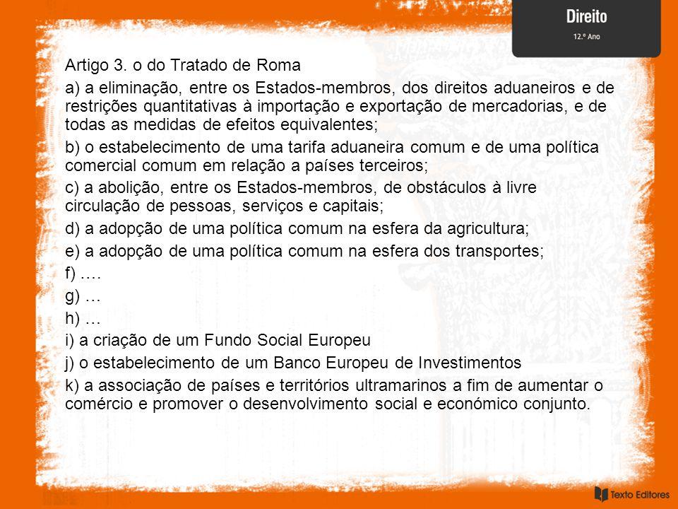 Artigo 3. o do Tratado de Roma