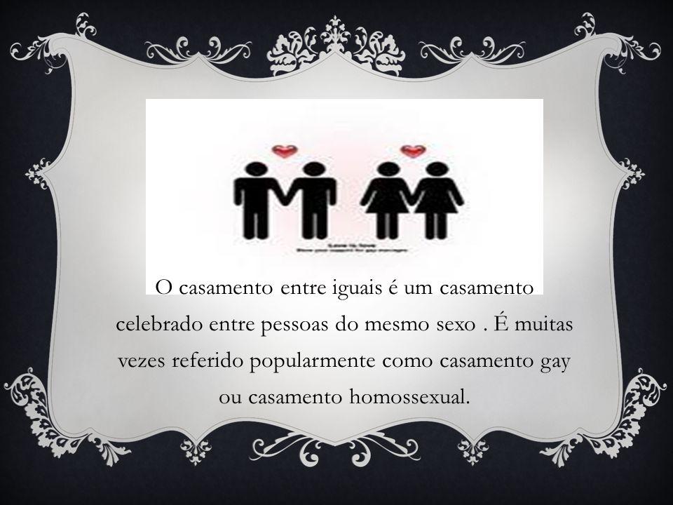 O casamento entre iguais é um casamento celebrado entre pessoas do mesmo sexo .