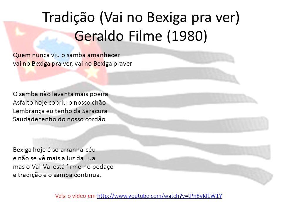 Tradição (Vai no Bexiga pra ver) Geraldo Filme (1980)