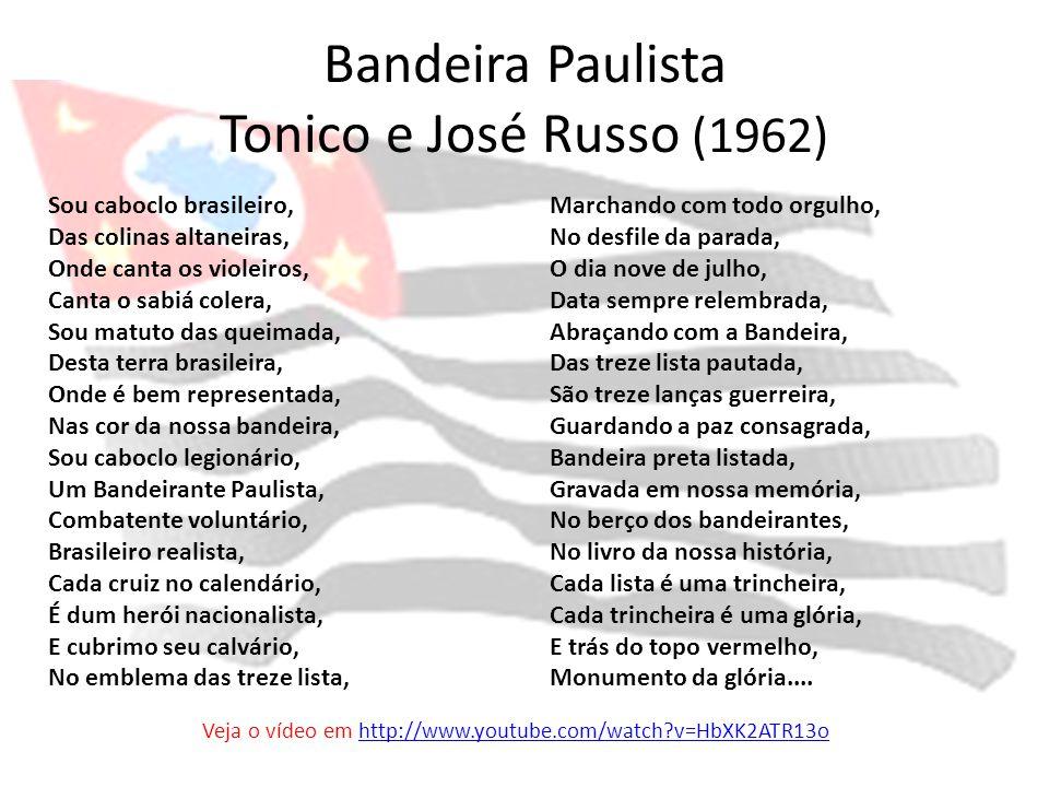 Bandeira Paulista Tonico e José Russo (1962)