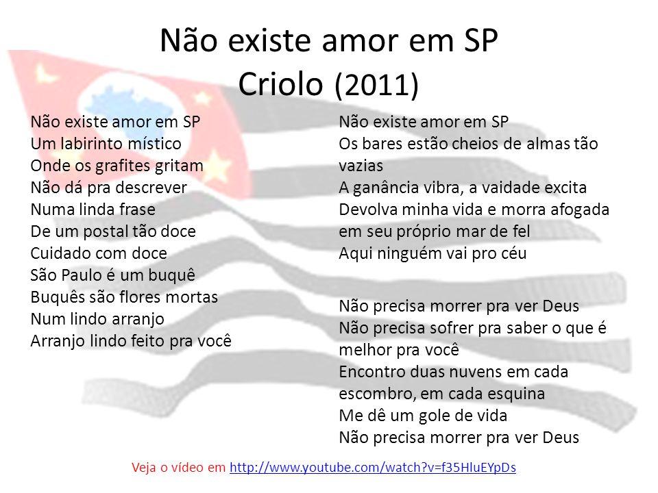Não existe amor em SP Criolo (2011)
