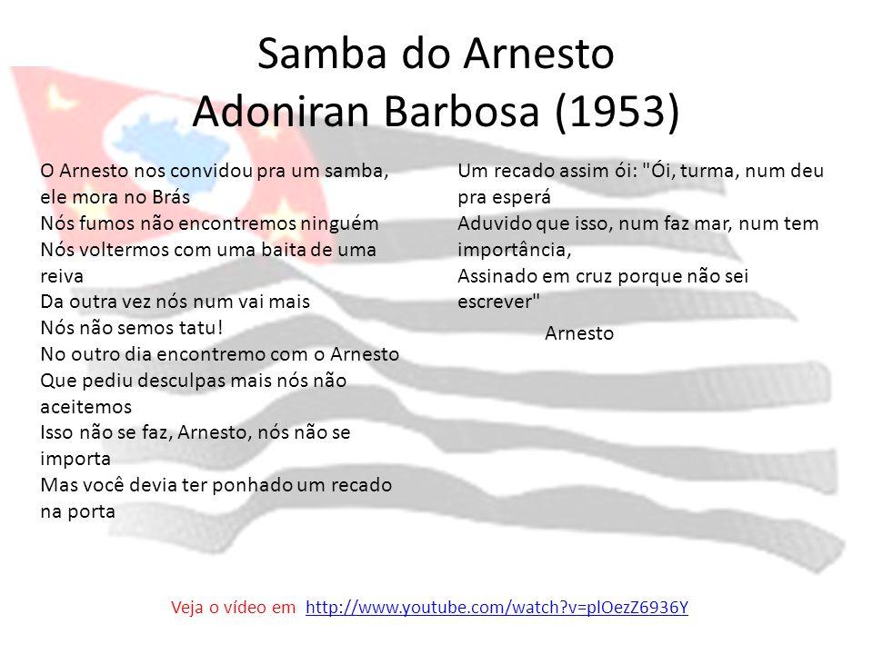 Samba do Arnesto Adoniran Barbosa (1953)