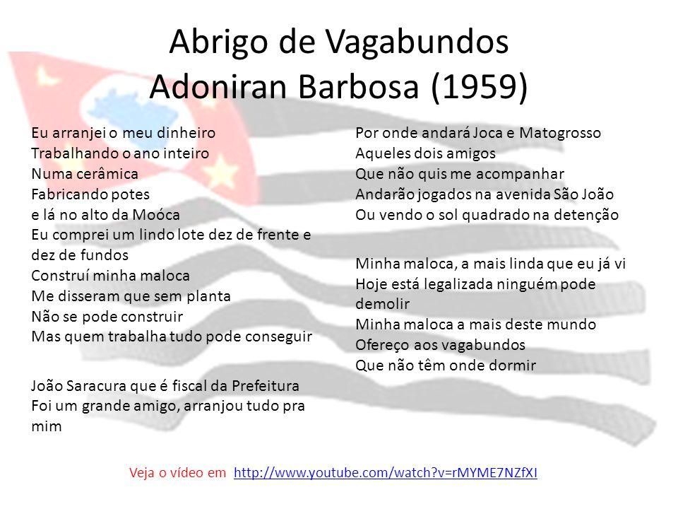 Abrigo de Vagabundos Adoniran Barbosa (1959)