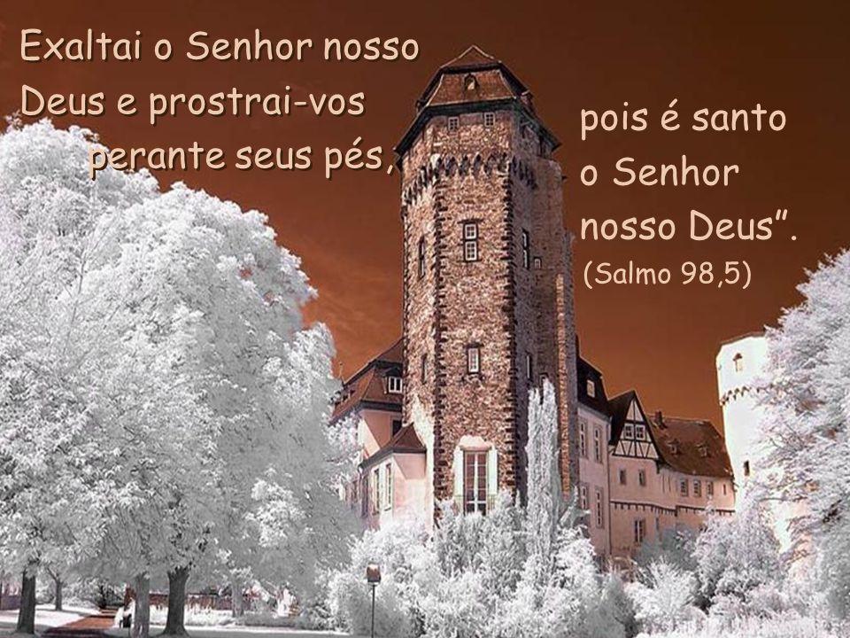 Exaltai o Senhor nosso Deus e prostrai-vos perante seus pés,
