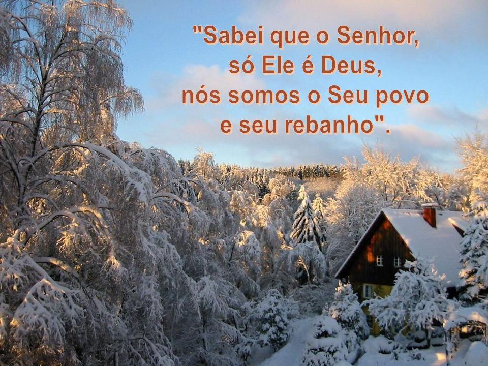 Sabei que o Senhor, só Ele é Deus, nós somos o Seu povo e seu rebanho .