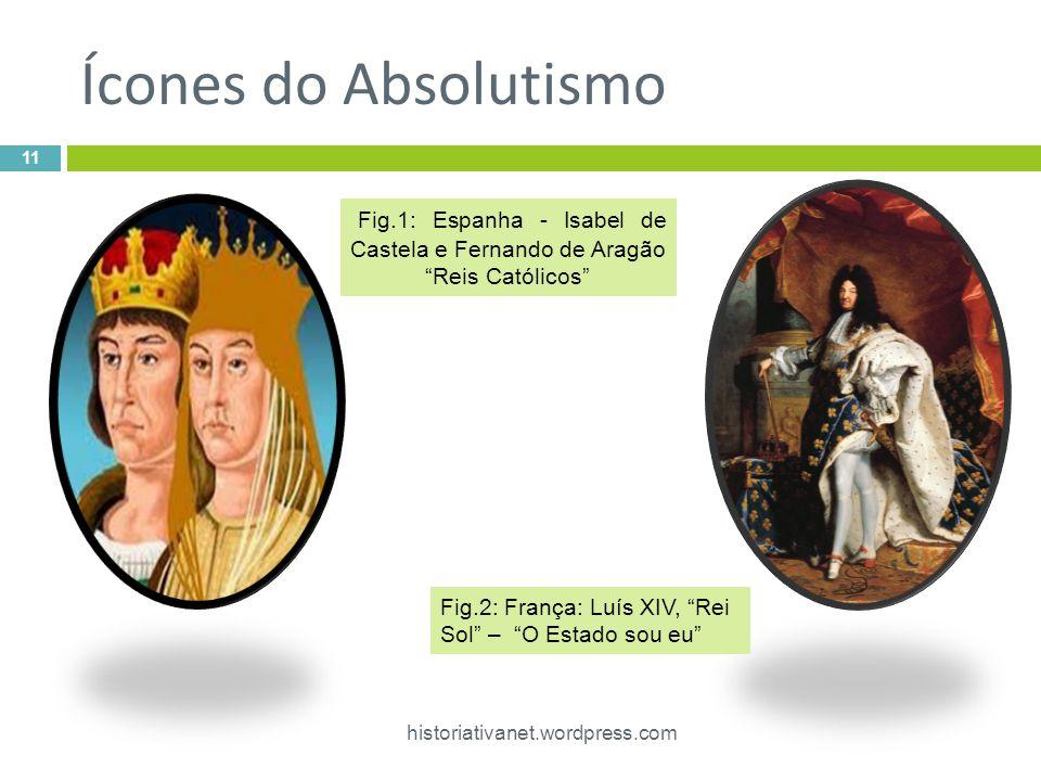 Ícones do Absolutismo Fig.1: Espanha - Isabel de Castela e Fernando de Aragão. Reis Católicos