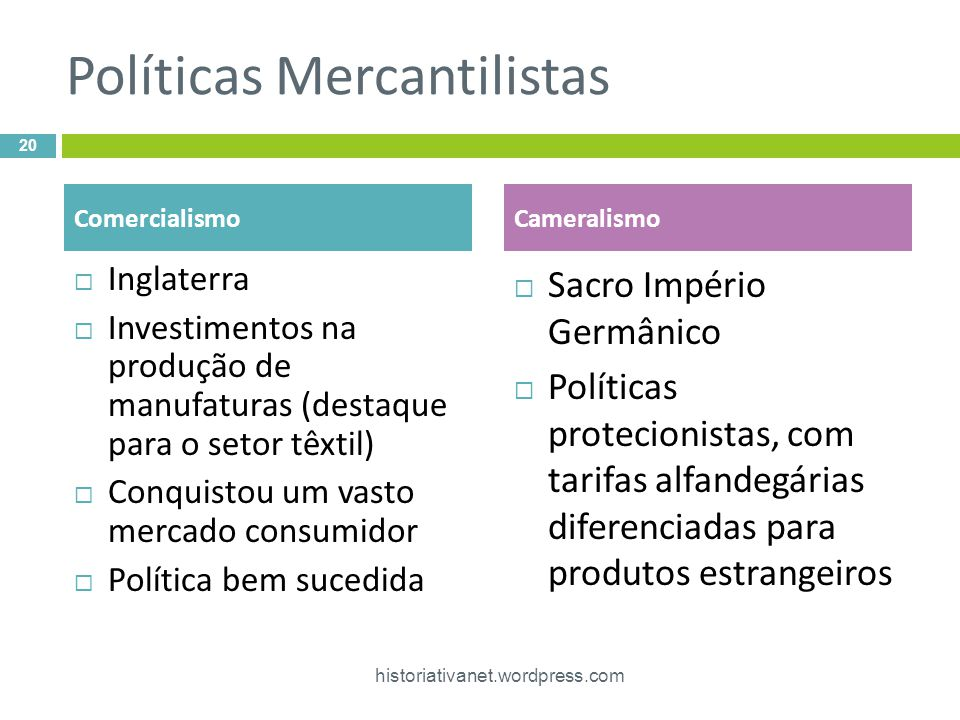 Políticas Mercantilistas