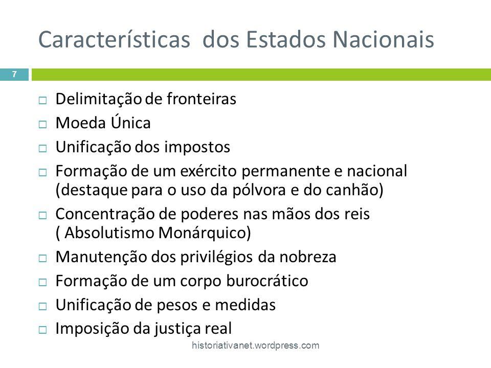 Características dos Estados Nacionais