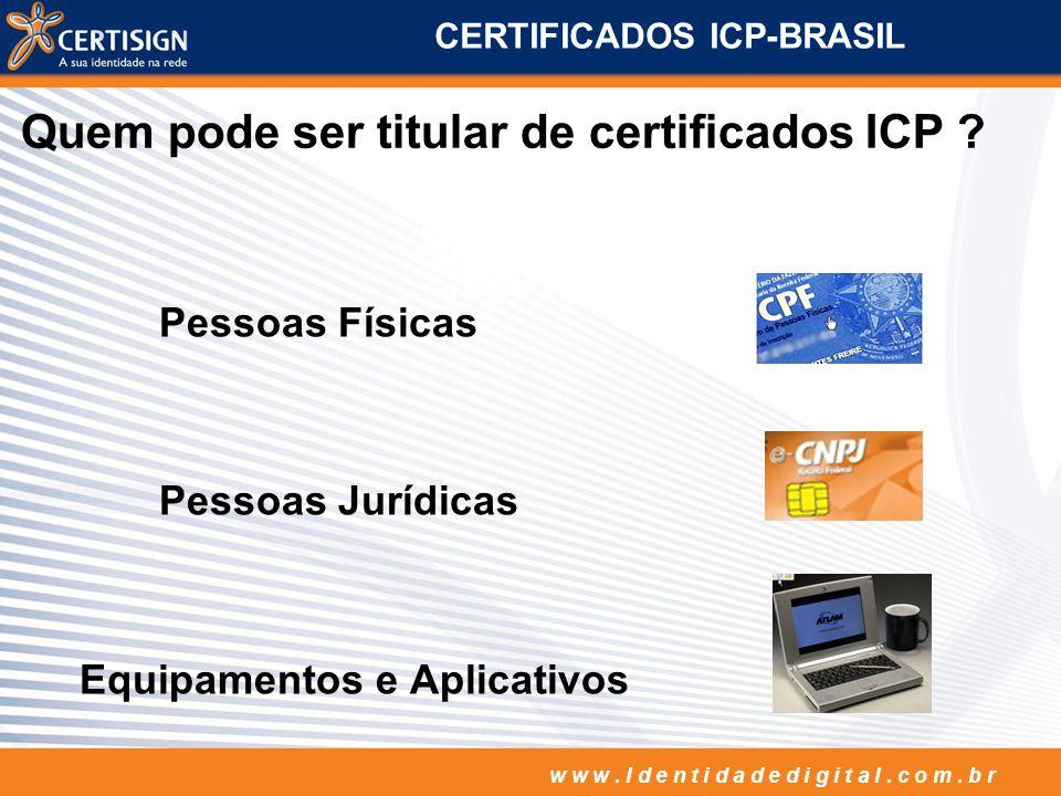 CERTIFICADOS ICP-BRASIL
