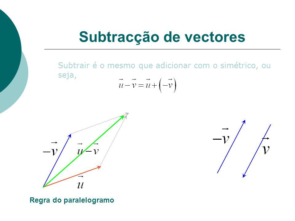 Subtracção de vectores