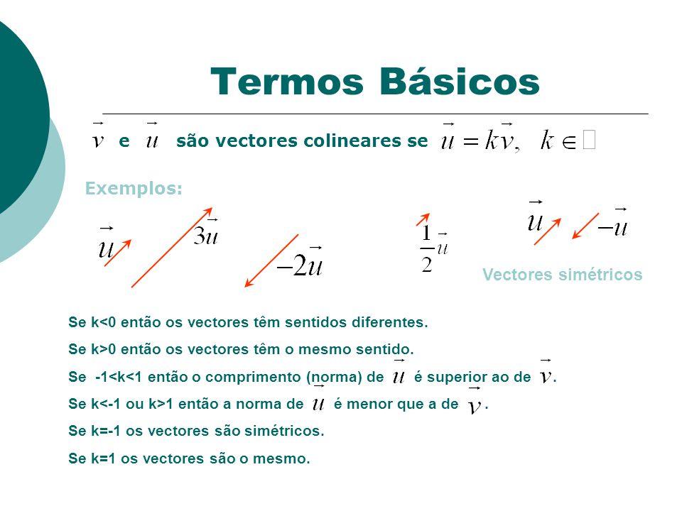 Termos Básicos Exemplos: Vectores simétricos