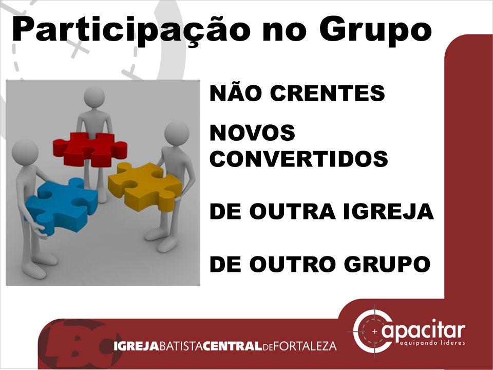 Participação no Grupo NÃO CRENTES NOVOS CONVERTIDOS DE OUTRA IGREJA