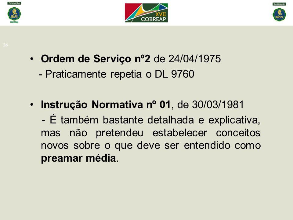 Ordem de Serviço nº2 de 24/04/1975