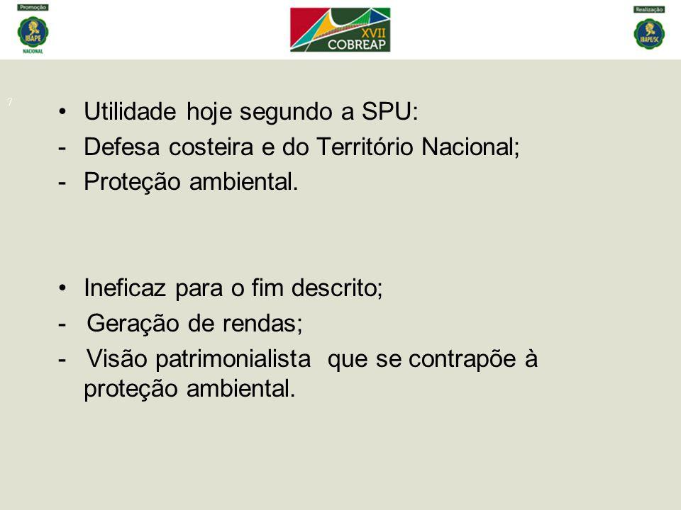 Utilidade hoje segundo a SPU: