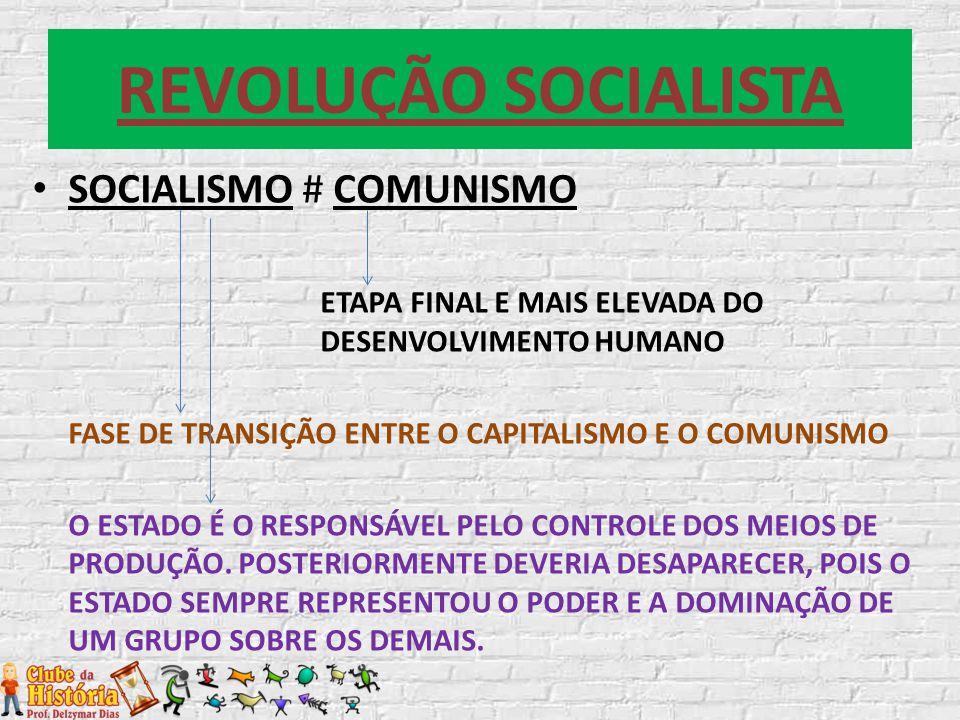 REVOLUÇÃO SOCIALISTA SOCIALISMO # COMUNISMO