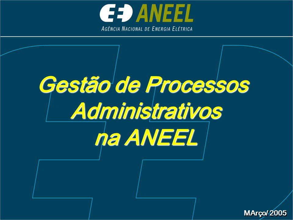 Gestão de Processos Administrativos na ANEEL