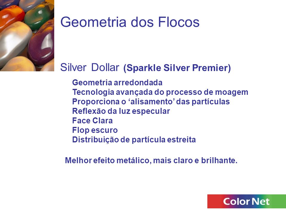 Geometria dos Flocos Silver Dollar (Sparkle Silver Premier)