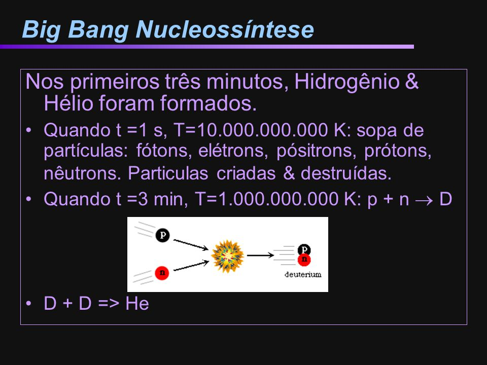 Big Bang Nucleossíntese