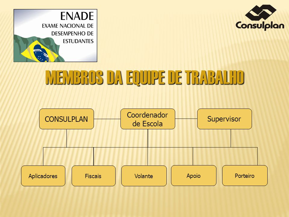 MEMBROS DA EQUIPE DE TRABALHO