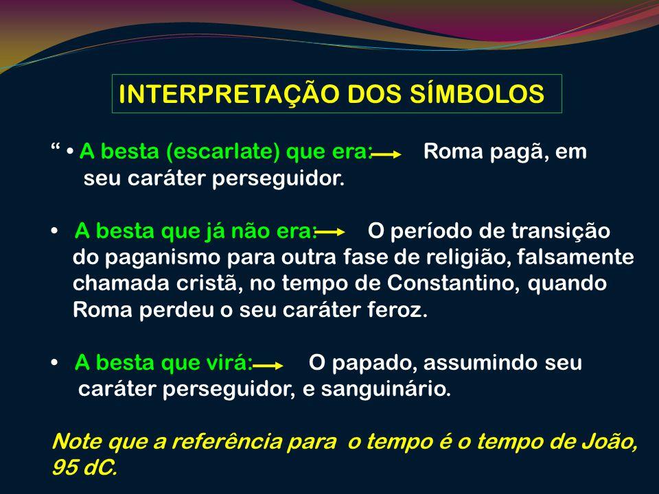 INTERPRETAÇÃO DOS SÍMBOLOS