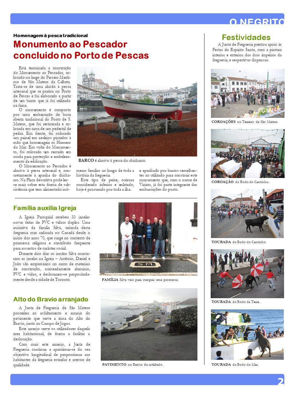 O NEGRITO 2 Monumento ao Pescador concluido no Porto de Pescas