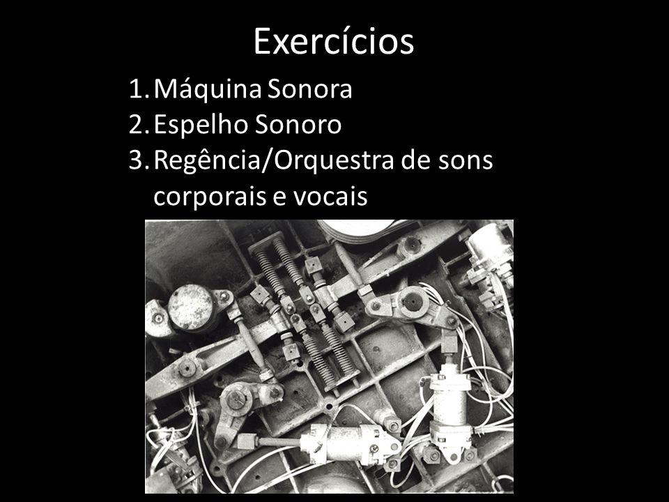 Exercícios Máquina Sonora Espelho Sonoro