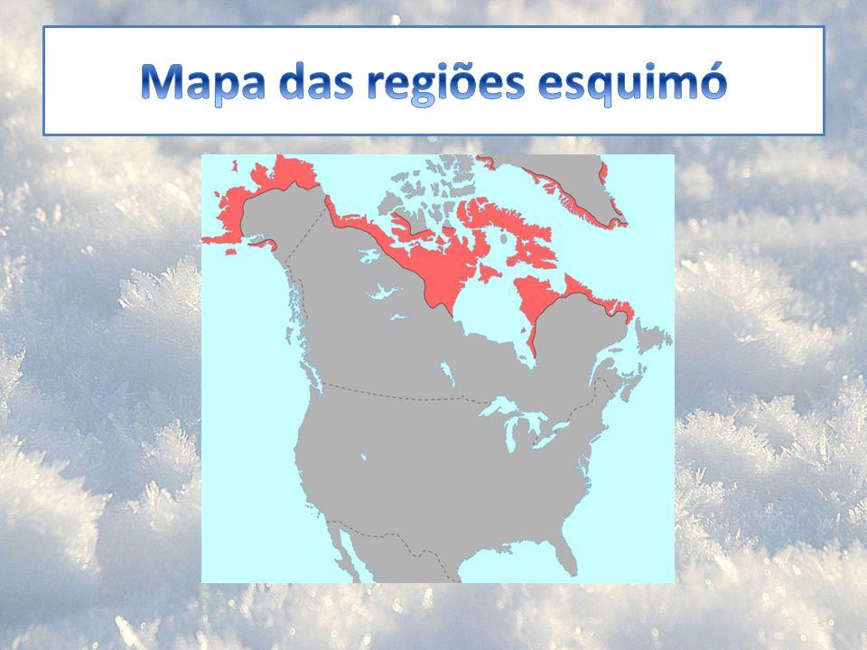 Mapa das regiões esquimó