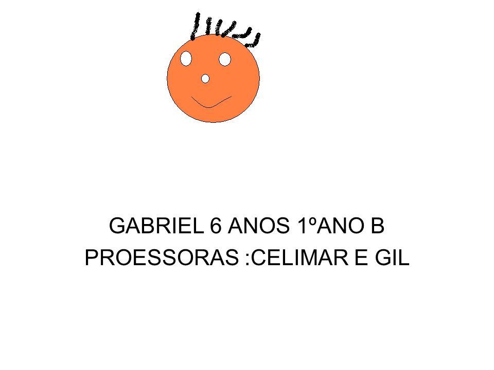 GABRIEL 6 ANOS 1ºANO B PROESSORAS :CELIMAR E GIL