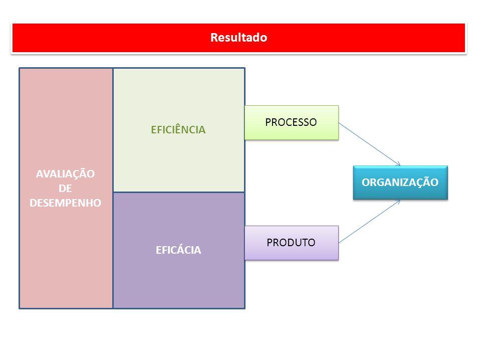 Resultado EFICIÊNCIA PROCESSO AVALIAÇÃO DE DESEMPENHO ORGANIZAÇÃO