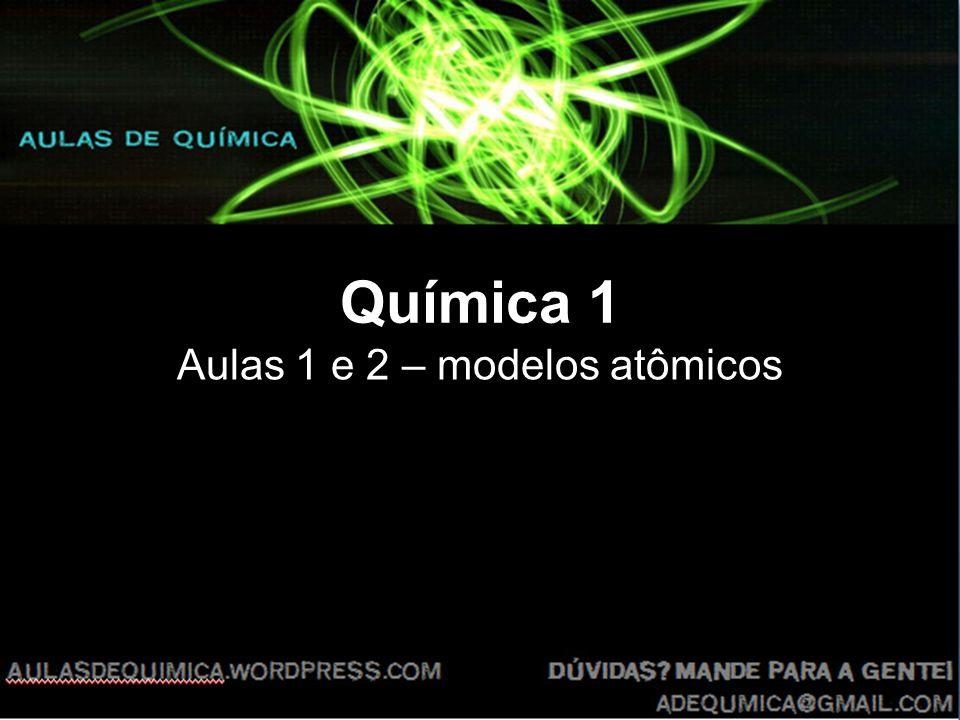 Aulas 1 e 2 – modelos atômicos