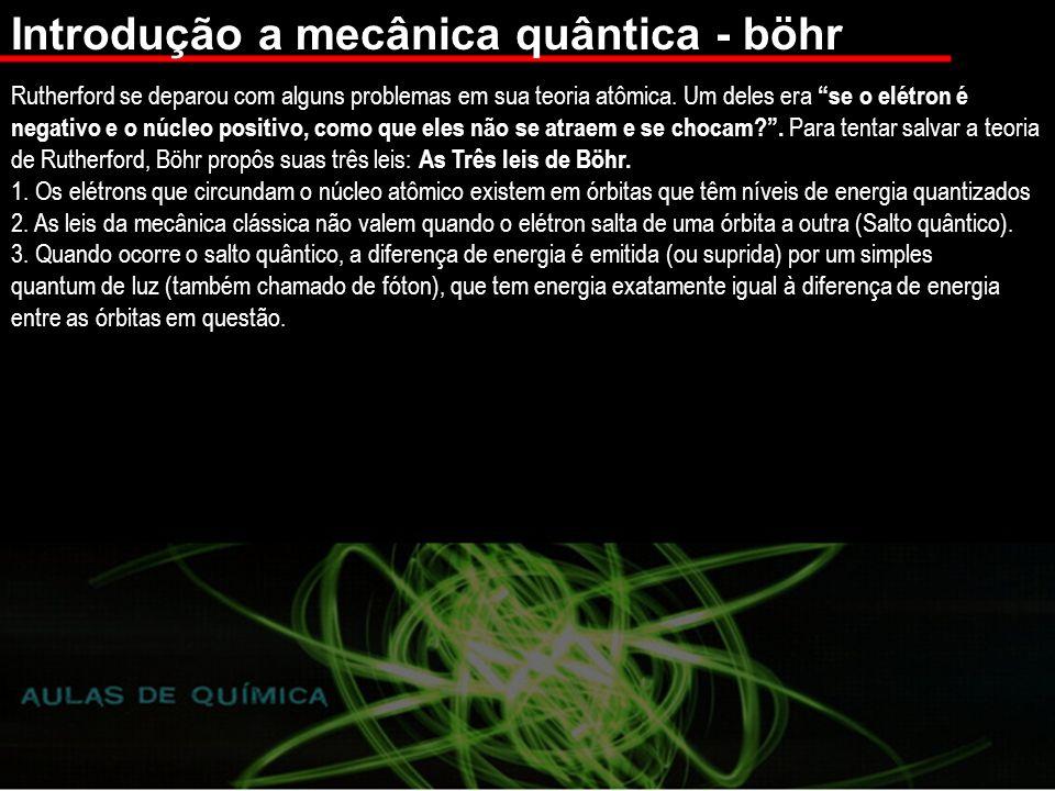 Introdução a mecânica quântica - böhr