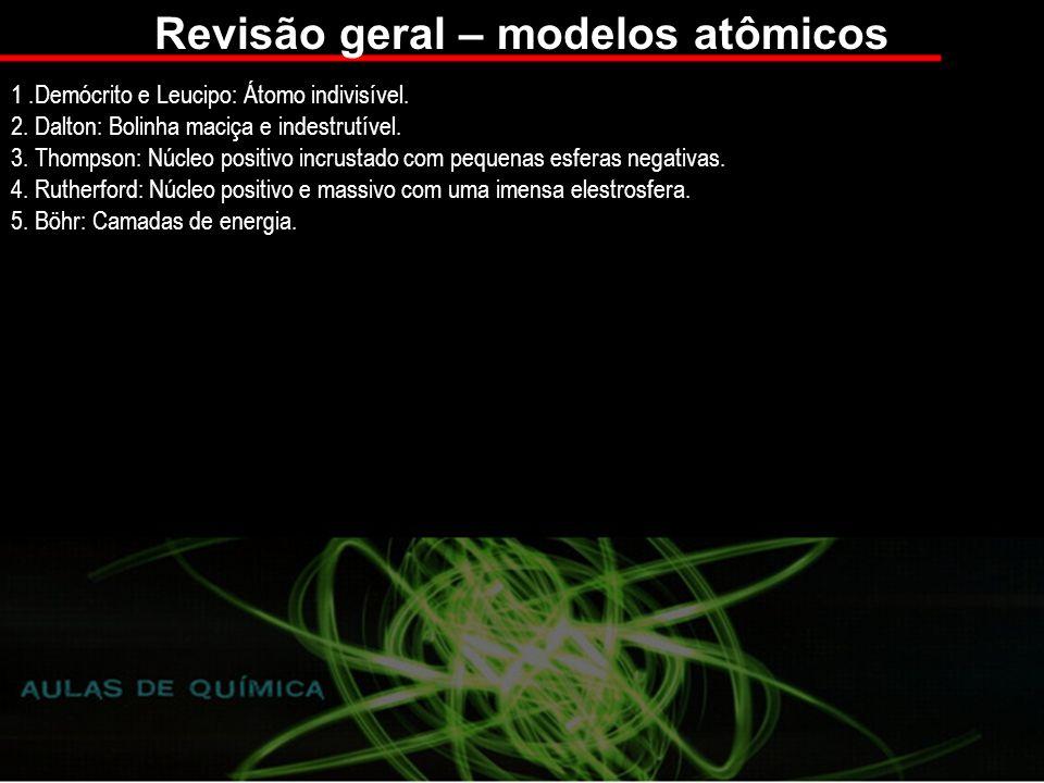 Revisão geral – modelos atômicos