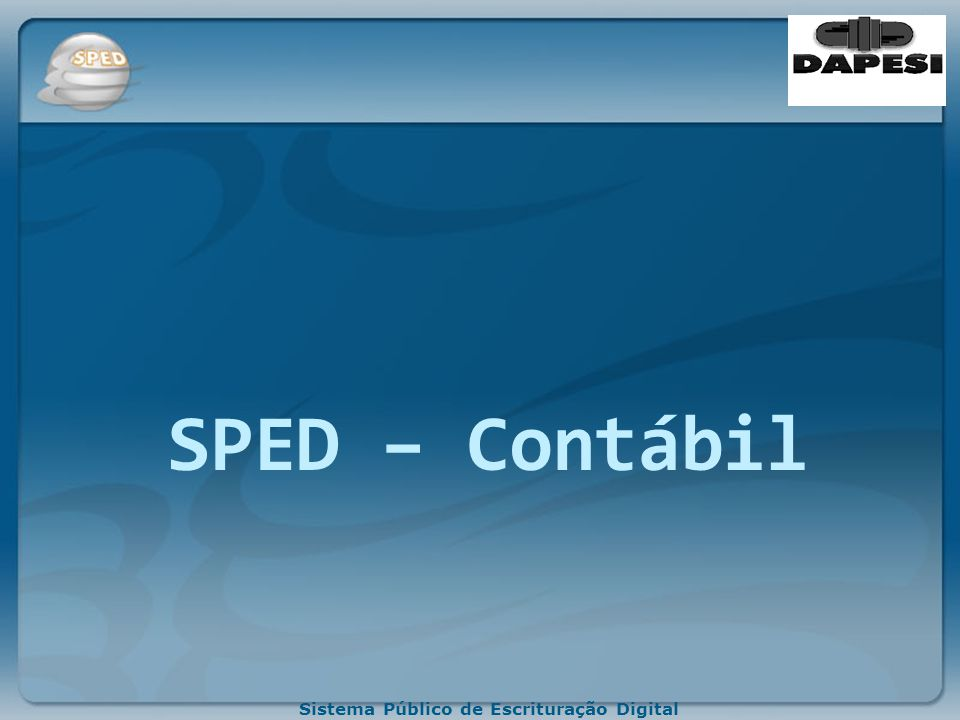 SPED – Contábil