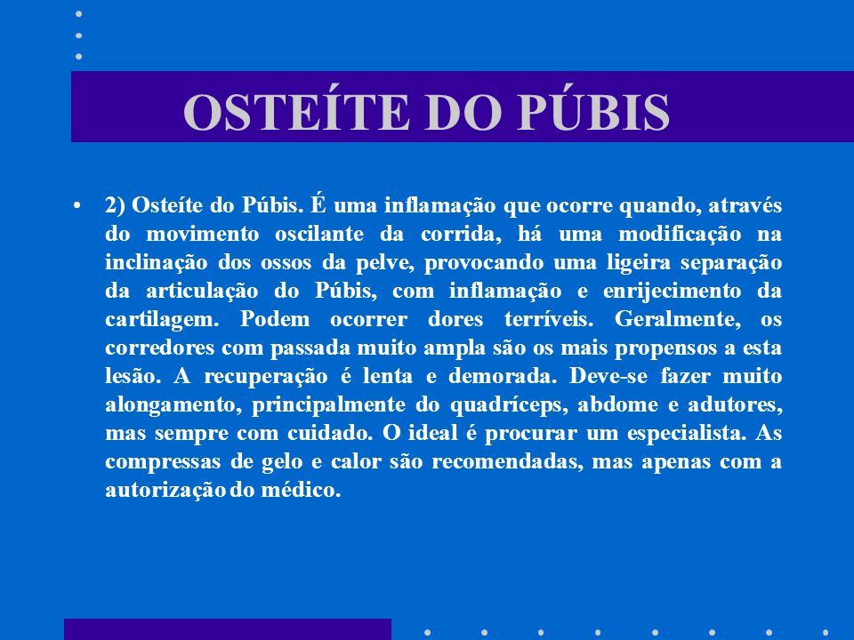 OSTEÍTE DO PÚBIS