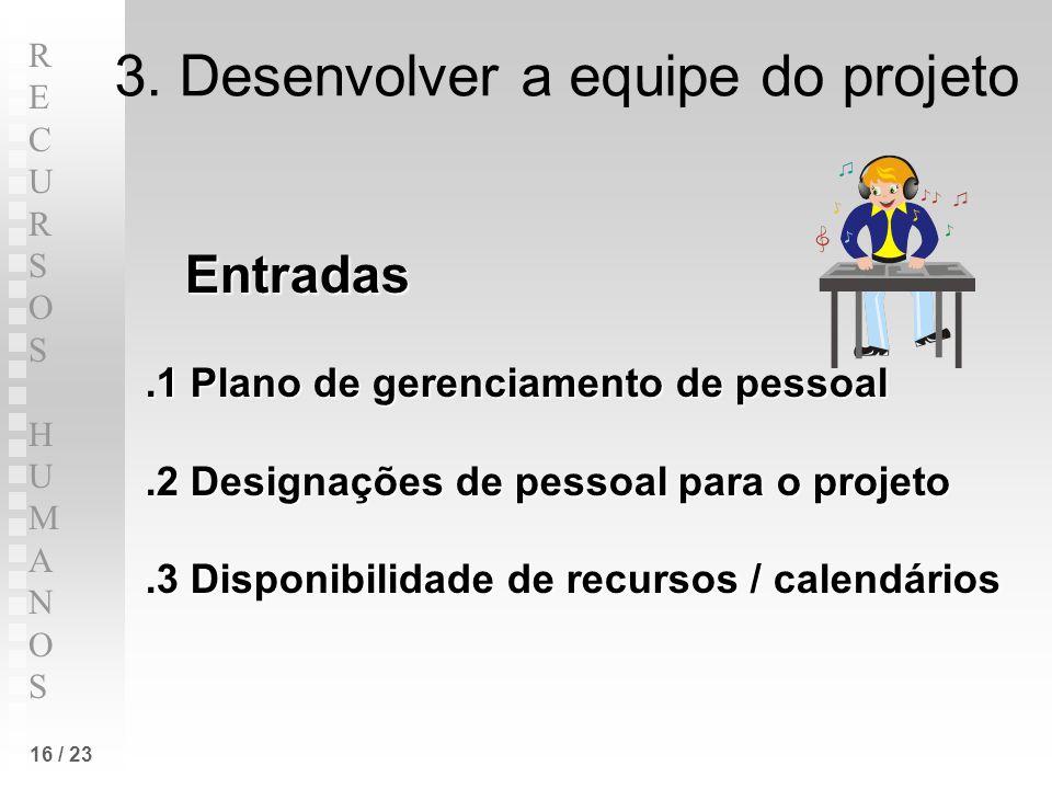 3. Desenvolver a equipe do projeto
