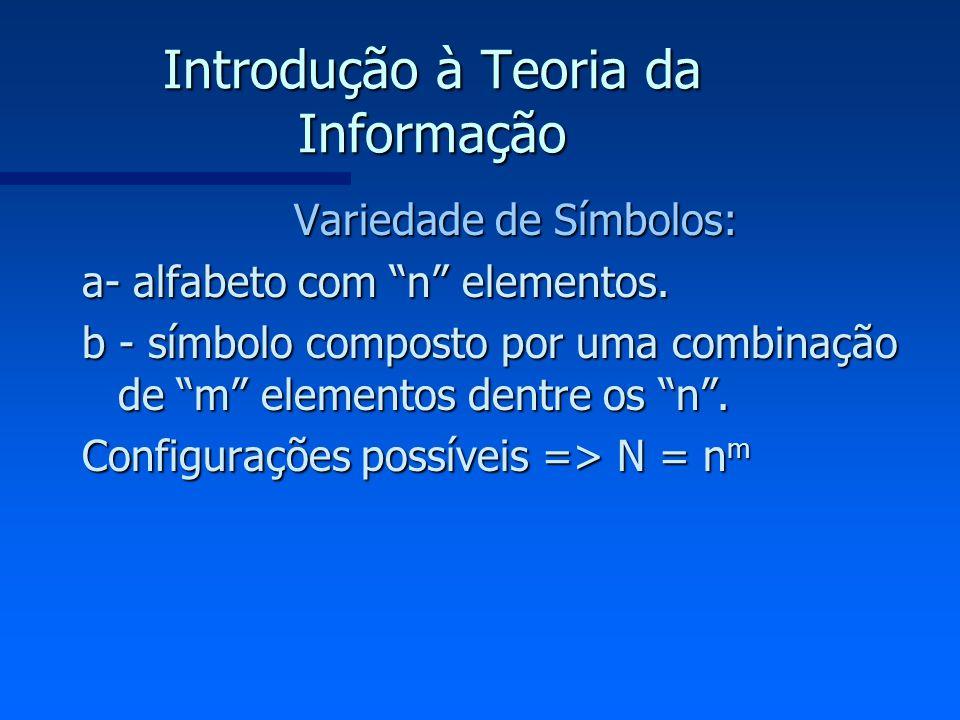 Introdução à Teoria da Informação