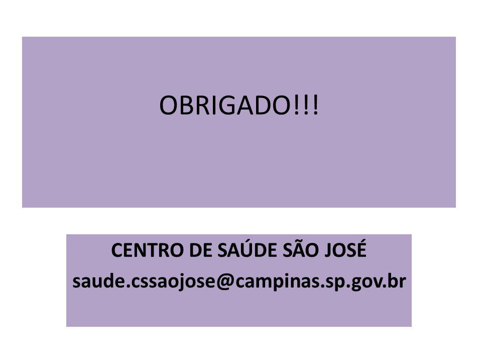 CENTRO DE SAÚDE SÃO JOSÉ saude.cssaojose@campinas.sp.gov.br