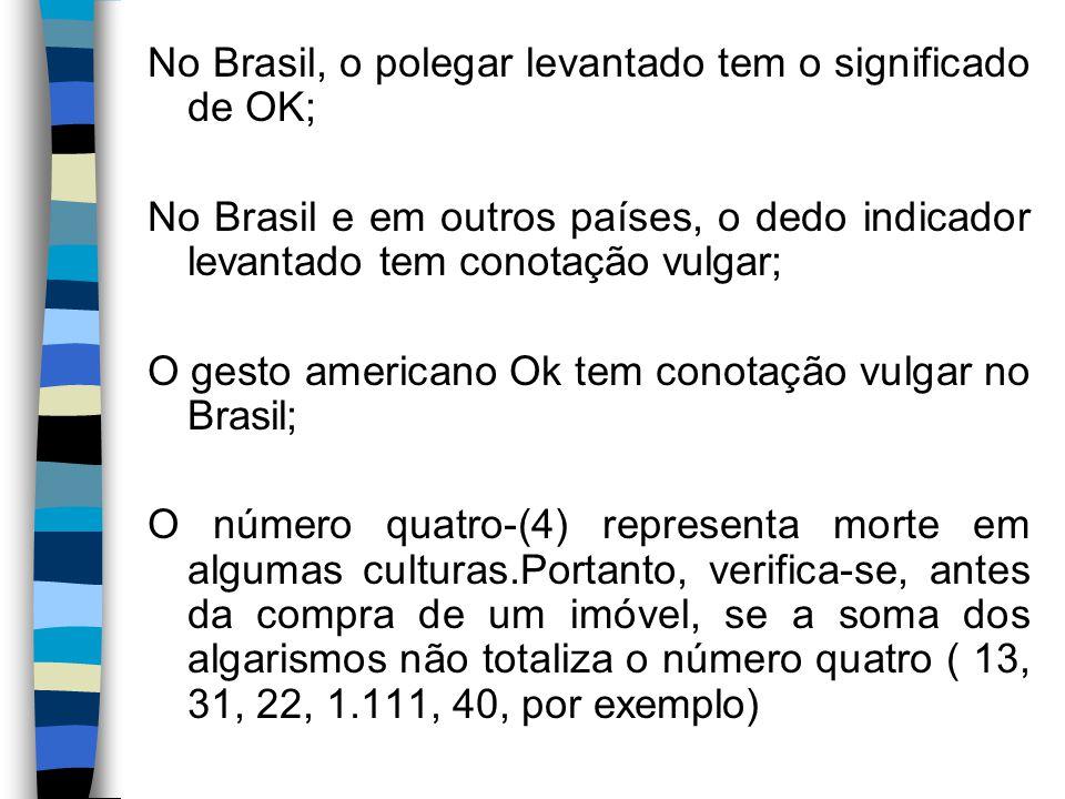 No Brasil, o polegar levantado tem o significado de OK;