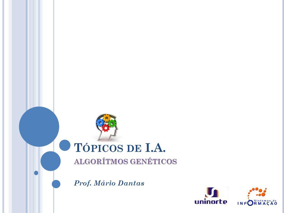 ALGORÍTMOS GENÉTICOS Prof. Mário Dantas