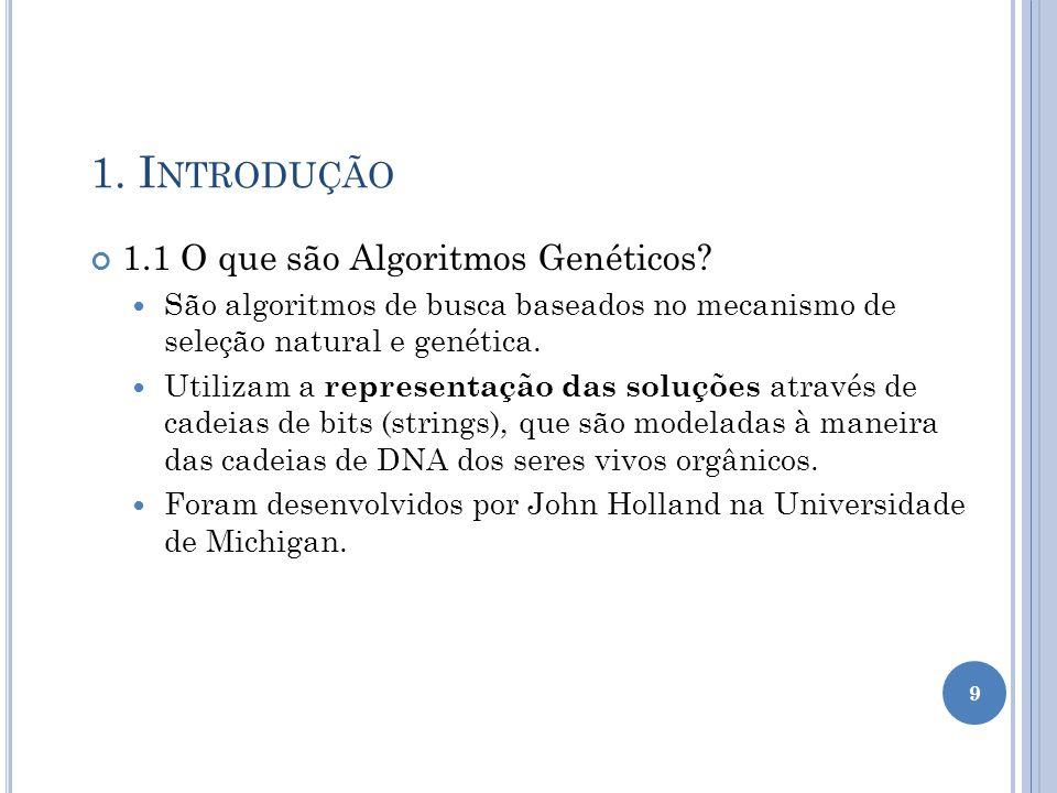 1. Introdução 1.1 O que são Algoritmos Genéticos